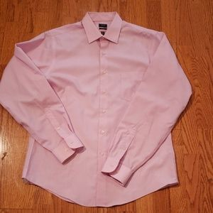 Arrow Pink Fitted Large Tall Shirt